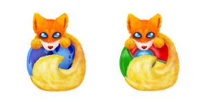 Adorable Firefox/Chrome Icons by ShardLovesPotatoes