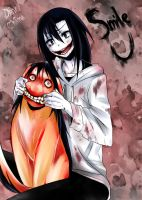 Jeff the killer and smile dog by Danny-chama