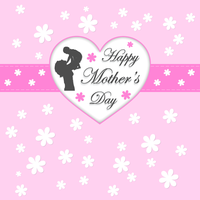Happy Mothers Day Greeting Card by 123freevectors