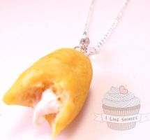 Scented bitten Twinkies necklace by ilikeshiniesfakery