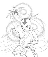 ATLA - Aang and Momo by RockingTheWorld