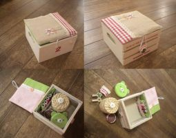 Handmade sewing box by Dolly-chan