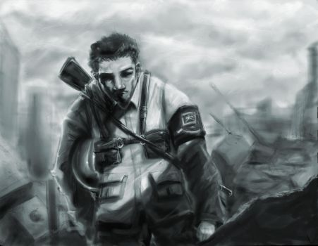 a soldier by Zeng