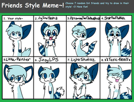 Friend Style Meme! (REDONE) by Rainy-bleu