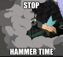 Hammer Time by dinochickrox