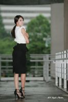 Black Pencil Skirt by ParkLeggyKorean