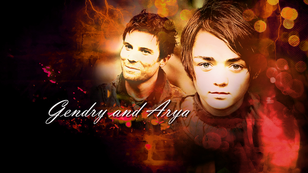Gendry and Arya from the Tv Show Game of Thrones by Flayari