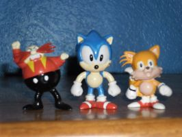 My Small Sonic Figures by DarkGamer2011