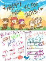 OJ: NEW YEAR POST CARDS by mintoreto