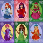 Christmas Winx by WaterLily-Gems