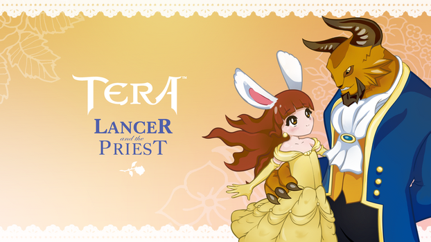 tera - lancer and the priest wallpaper by anti-time