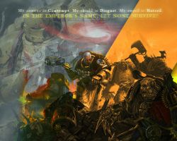 Wallpaper - Space Marines by GothicBrokenBabe
