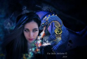 The Witch and blue dragon by Fae-Melie-Melusine
