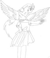 Sailor Mars With Wings by JupiterGurl