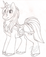 Shining Armor Sketch by StangWolf
