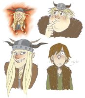 HTTYD sketches by SnuffyMcSnuff