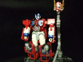 The vision of Optimus Prime by forever-at-peace