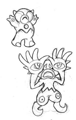 Who's that Fakemon? It's Peepo and Eyeris!