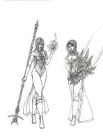 Bresillia and Amelia unfinished by draks