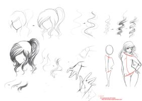 Sketches for HOW TO DRAW... by RapunSal