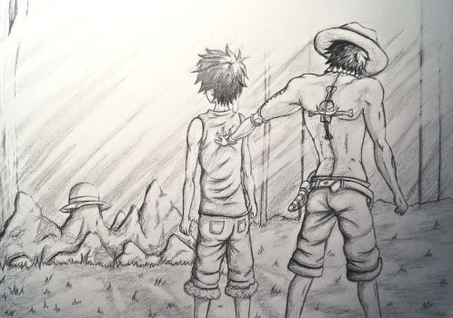 Ace and Luffy - Dare Your Next Step (Speedpaint) by AyoraPics