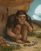 Caveman Sitting by atomicman