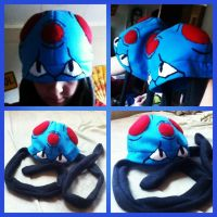 Tentacool Fleece Hat Pokemon Beanie by chkimbrough