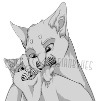 Cute Cat Couple Base! by RussianBlues