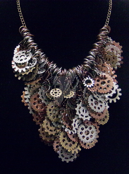 Shaggy Steampunk Necklace by NebulaDraconian