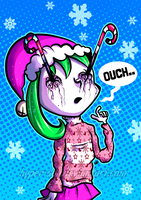 candy cane TO THE FACE by Hyper-Doll