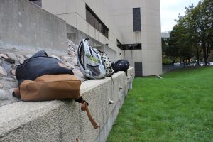 Backpacks on Ledge by LeoPacus