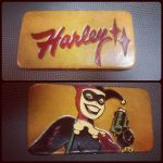 Harley Quinn Leather Clutch Purse by MerrillsLeather