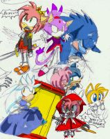 Sonic fairy tale-ish doodles by Umbra-Flower