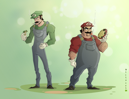 Mario Brothers by Distract91