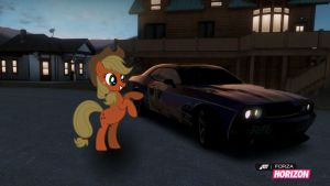 Applejack's new Dodge Challenger by EquestianRacer