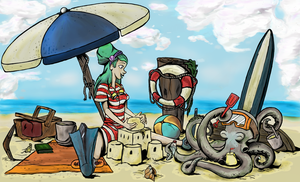 Otto and Victoria at the beach by Yukas-Armstrong