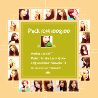 Pack Icon 100x100 [Qri ulzzang - cuite girl] by Shawolki