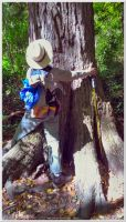 Tree hugging on Alum Cave Trail 3 by slowdog294
