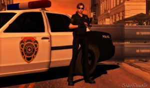 Jill RPD Street Patrol officer uniform (Re-make) by bstylez