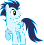 Vector: Soarin Looking At His Pal by PaulyVectors