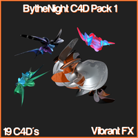 BytheNight Abstract C4D Pack1 by iiRoleplayy