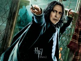Snape Action Wallpaper by HarryPotter645