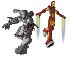 Iron Man and War Machine by UndeadComics