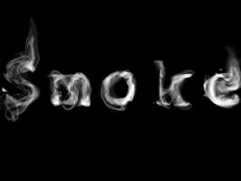 Smoky Typography by mtowreck