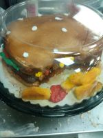 Burger Cake!! by LadyPhantomhive21