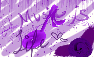 Purple Music --deviantART Muro by kinikxluna