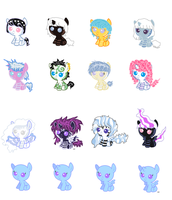 Foal adoptables ZEBRAS 5-10 points -OPEN- by Rainbow-Fluffy