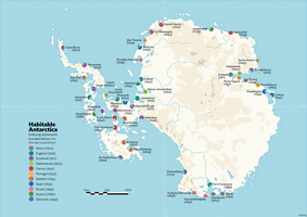 Habitable Antarctica: Settlements before 1710 by schreibstang