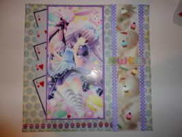 Alice anime girl 12 x 12 scrapbook page by butterflypromqueen