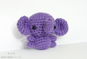 Purple Elephant 2 by tinyowlknits